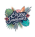 enjoy summer hand written lettering text vector image vector image