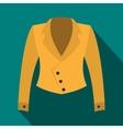 Female jacket icon flat style vector image vector image