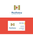 flat video logo and visiting card template vector image vector image