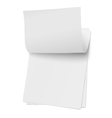 Flipping page on a stack of note papers isolated vector image vector image
