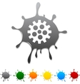 Gear blot vector | Price: 1 Credit (USD $1)