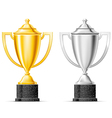 gold and silver cup vector image vector image