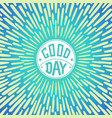 good day vector image