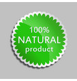 green sticker natural product vector image