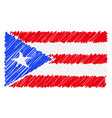 hand drawn national flag of puerto rico isolated vector image vector image