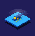 helicopter passenger plane 3d isometric icon vector image