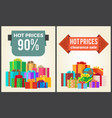 hot prices total final sale discounts promo labels vector image vector image