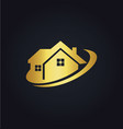 house business realty gold logo vector image vector image
