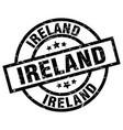 ireland black round grunge stamp vector image vector image