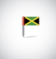Jamaica flag pin vector image