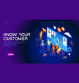 know your customer web banner vector image