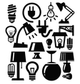 lamp icons vector image