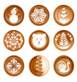 latte art images realistic set vector image vector image