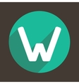 Letter W Logo Flat Icon Style vector image vector image