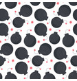 lit bomb seamless pattern vector image