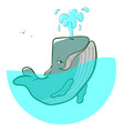 logo blue whale fountains vector image
