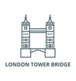 london tower bridge line icon linear vector image vector image