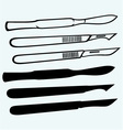 Medical scalpels vector image vector image