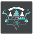 merry christmas website banner with snow christmas vector image vector image