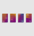 minimal covers design covers set vector image vector image