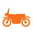 Motorcycle symbol icon on white vector image vector image