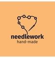 Needlework handmade logo design vector image vector image