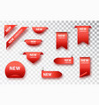 new collection tags set badges and labels vector image