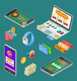 online gambling casino app isometric vector image vector image