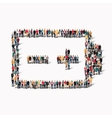 people form battery charge vector image