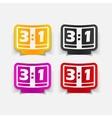 realistic design element score board vector image