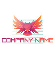 red owl as a company logo on white background vector image