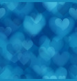 seamless pattern with hearts on valentines day vector image