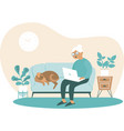 senior woman at home with laptop in hands vector image vector image