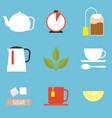tea preparation icon vector image vector image