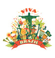 traditional Brazilian items vector image