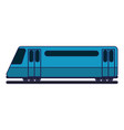 train on rails sideview blue lines vector image