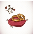 Vintage Card with Wedding Rings vector image