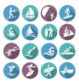 Water Sports Icons Set vector image vector image