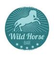 wild horse bar vintage emblem vector image