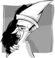 wizard sketch drawing vector image
