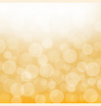 yellow bokeh background image vector image