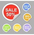Paper sale stickers collection Best offer vector image