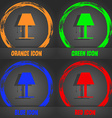 Lamp icon sign Fashionable modern style In the vector image