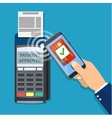Payments using terminal and smartphone vector image