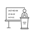 black thin line mathematic teacher vector image