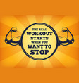 fitness concept strong arms with big vector image