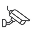 surveilance camera line icon security and cctv vector image