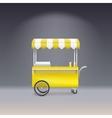 Yellow cart for sale lemonade vector image