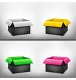 3D black multicolored box vector image