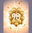 98th year anniversary background vector image vector image